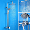 Length Cm Contemporary Chrome Brass Shower Faucet With Air Injection Technology Shower Head Image