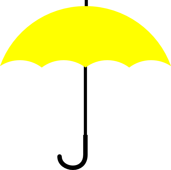 Yellow Umbrella Black Handle Clip Art at Clker.com ...