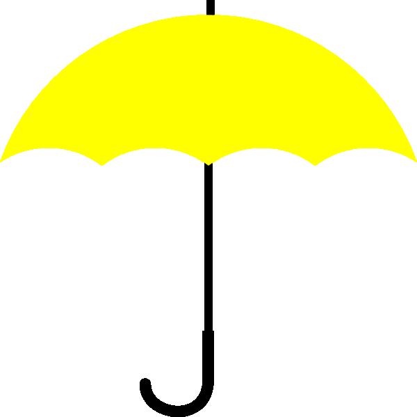 Yellow Umbrella Black Handle Clip Art at Clker.com ...