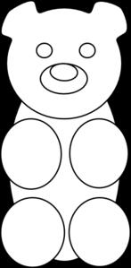 gummy bear outline clip art at clker com vector clip art online