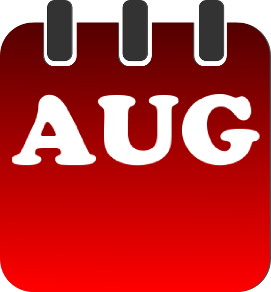 Clip Art Calendar August : August calendar clip art at clker vector