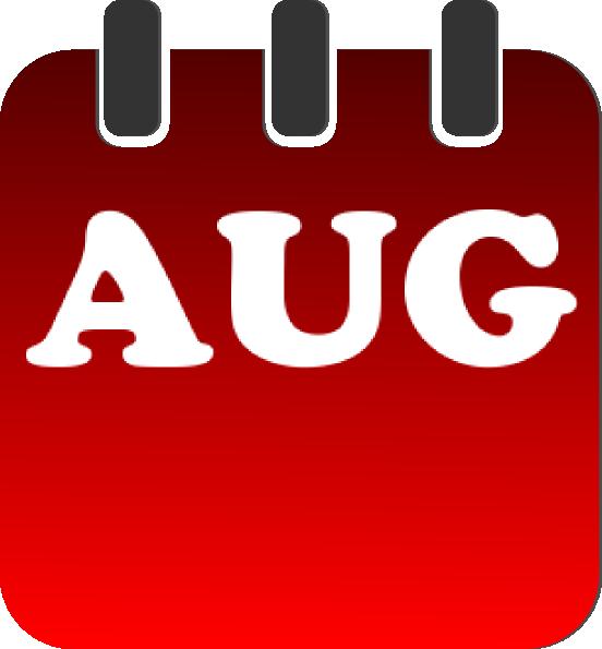 Calendar Clip Art August : August calendar clip art at clker vector