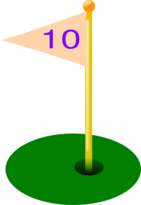Golf Flag 10th Hole Clip Art