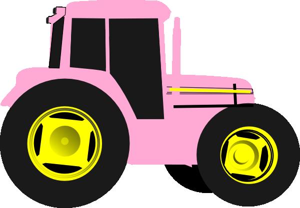 Pink Tractor Clip Art at Clker.com - vector clip art online, royalty ...