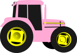 Pink Tractor Clip Art