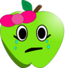 Crying Apple Clip Art
