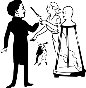 Magician With Magic Wand Clip Art