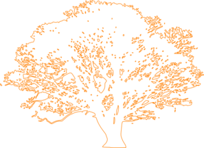White Tree Orange Clip Art