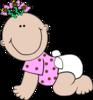Baby Girl Polka Dot Clip Art