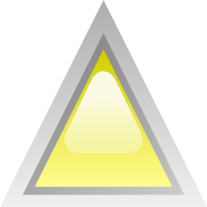 Led Triangular Yellow Clip Art