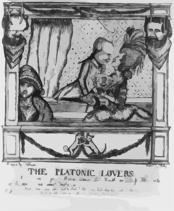 The Platonic Lovers  / Designed By Fashion ; Execd. By Folly ; W.d. [dent]. Clip Art