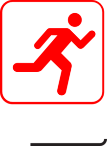 Running-red Clip Art