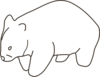 Wombat Template Neutral Clip Art