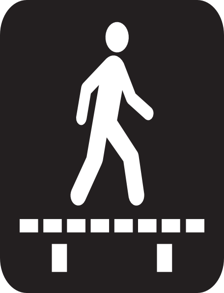Walking Sign Clip Art at Clker.com - vector clip art ...