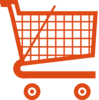 Orange Shopping Cart Clip Art