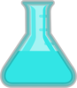 Light Blue Flask Lab Clip Art