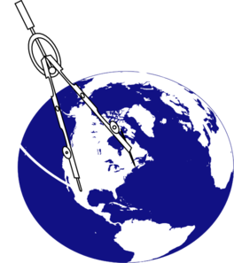 Compass With Earth3 Clip Art