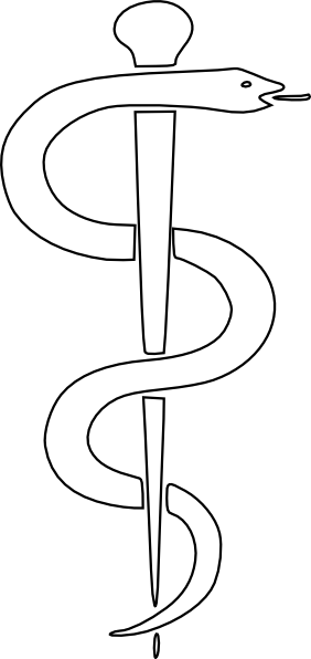 Rod Of Asclepius Upright Clip Art At Clker Com Vector