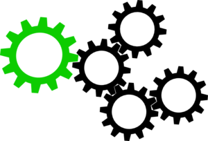 Green And Black Cogs Clip Art
