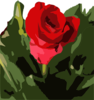 Single Rose Clip Art