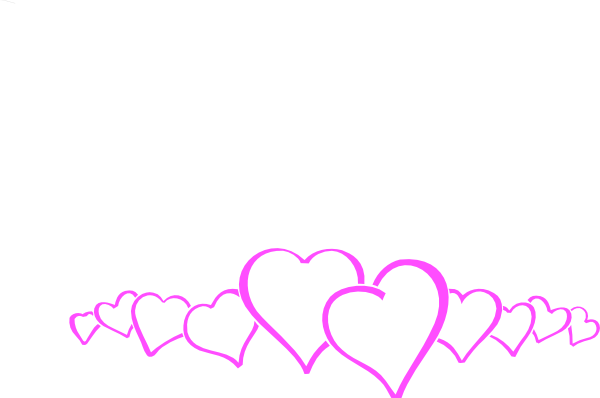magenta heart border clip art at clker com