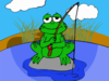 Fishing Frog Clip Art