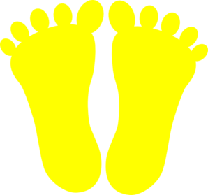 Yellow Footprints Clip Art