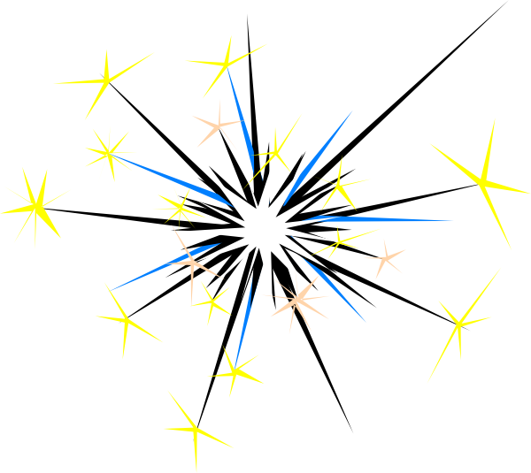 Sparks Clip Art at Clker.com - vector clip art online, royalty free ...
