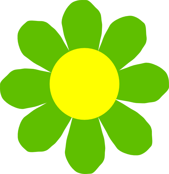 free green flower clipart - photo #24