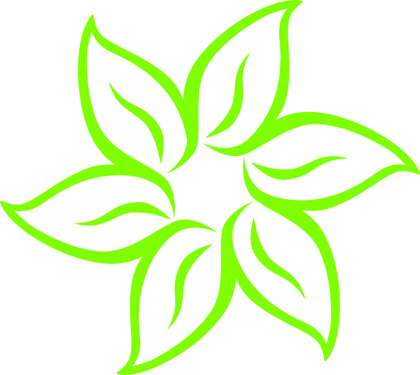 lime green flower clip art at clker  vector clip art online, Beautiful flower
