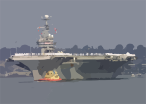 The Aircraft Carrier Uss Abraham Lincoln (cvn 72) Pulls Into San Diego Harbor. Clip Art