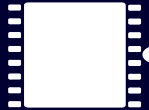 Navy Blue Film Strip Clip Art