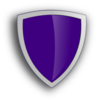 Purple Security Shield Clip Art