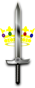 Jeweled Crown Sword Clip Art