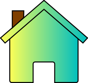 Yellow/blue Fade House Clip Art