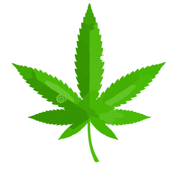 Cannabis Leaf Icon Clip Art at Clker.com - vector clip art online ...