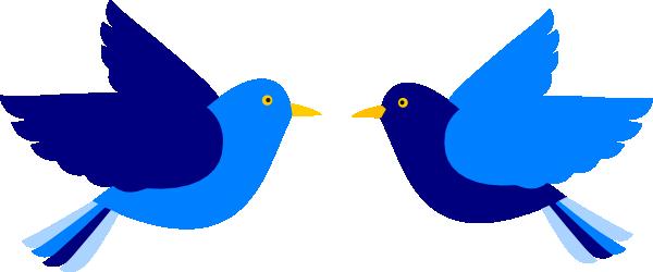 Two Blue Birds Clip Art at Clker.com - vector clip art online, royalty ... Eagle Silhouette Vector