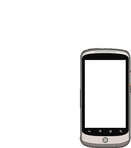 Smartphone White Screen Clip Art at Clker.com - vector ...