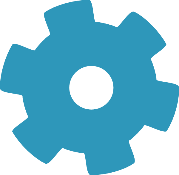 Blue Gear Cog Clip Art at Clker.com - vector clip art ...