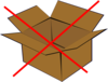No Boxes Clip Art