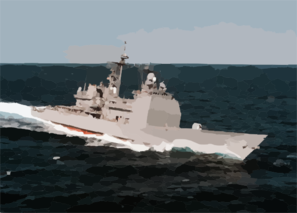 Cg 56 At Sea Clip Art