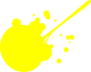 Yellow Paint Splat Clip Art