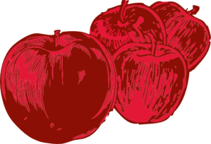 Four Apples Clip Art