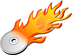 Burning Disc Clip Art