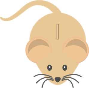 Light Coloured Mouse Clip Art