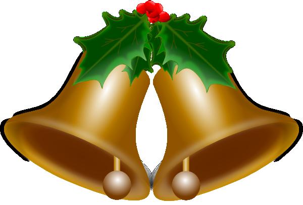Christmas bells clip art at clker vector
