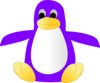 Purple Penguin By Fetzer Clip Art