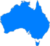 Blue Map Australia Clip Art