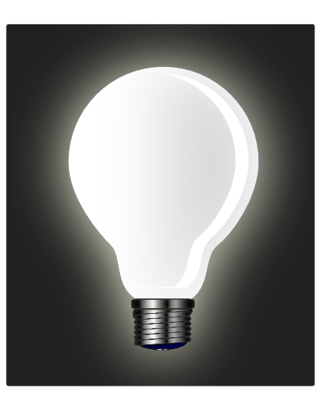 White light bulb png