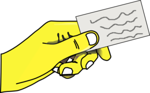 Yellow Hands Giving Offering Clip Art
